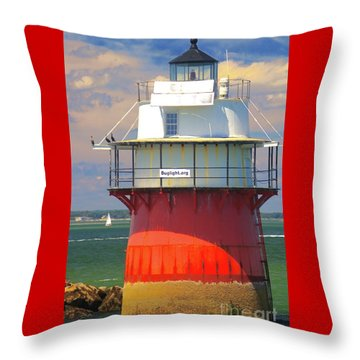 Bug Light Plymouth Throw Pillow
