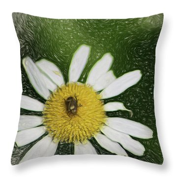 Throw Pillow featuring the digital art Bug Out by Terry Cork