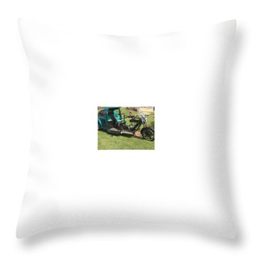 Throw Pillow featuring the photograph Bug Trike by Aaron Martens