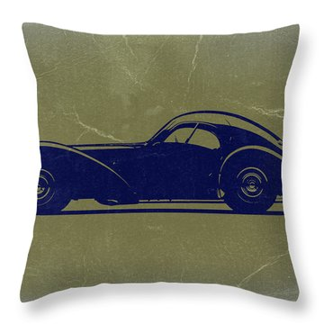 Bugatti 57 S Atlantic Throw Pillow by Naxart Studio