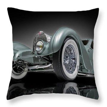 Bugatti Aerolithe Recreation Throw Pillow