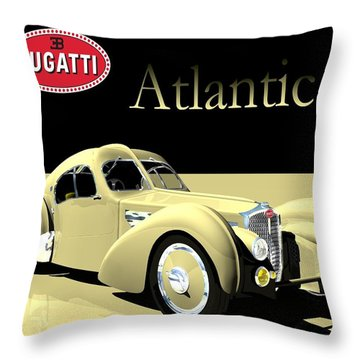 Bugatti Atlantic Throw Pillow by John Pangia