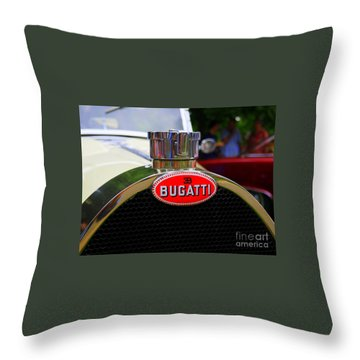 Bugatti Red Throw Pillow