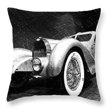 Bugatti Type 57 Aerolithe Throw Pillow