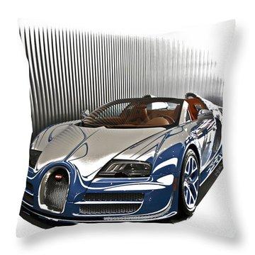 Bugatti V Throw Pillow