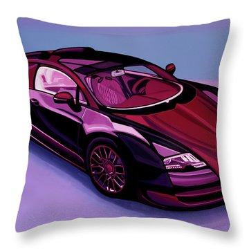 Bugatti Veyron 2005 Painting Throw Pillow
