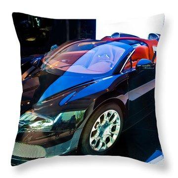 Bugatti Veyron Targa Throw Pillow