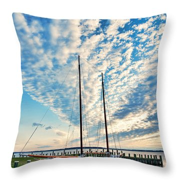Bugeye - Chesapeake Maritime Museum Throw Pillow