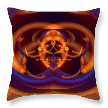 Throw Pillow featuring the digital art Bugged by Lynda Lehmann