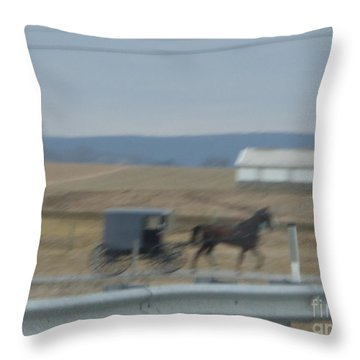 Buggy Ride Three Throw Pillow
