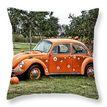 Bugs In The Patch Again Throw Pillow by Scott Wyatt