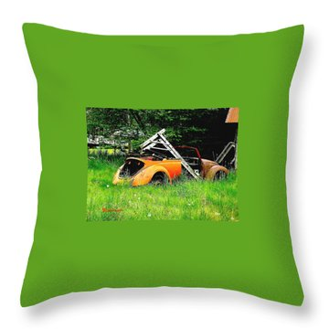 Bugsy Throw Pillow by Sadie Reneau