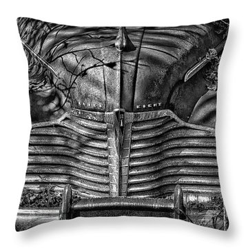 Buick Eight Front End Bw Throw Pillow