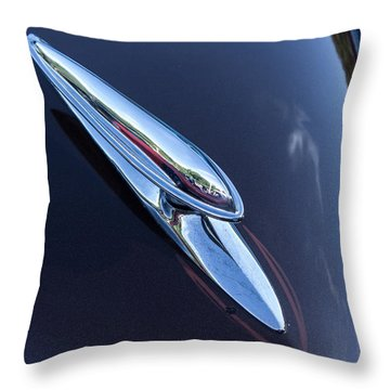 Buick Hood Ornament Throw Pillow by Nance Larson