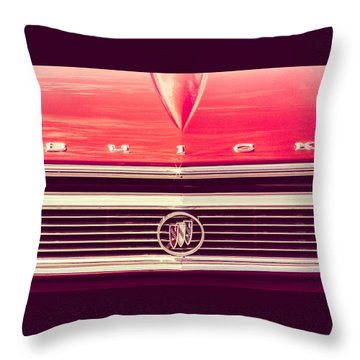 Buick Retro Throw Pillow by Caitlyn Grasso