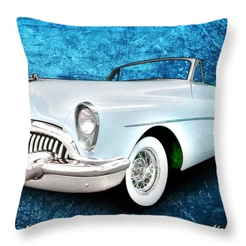 Buick Skylark Roadmaster Convertible For 1953 Throw Pillow