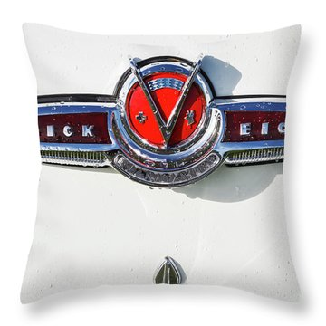 Throw Pillow featuring the photograph Buick V Eight by Dennis Hedberg