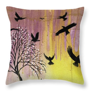 Throw Pillow featuring the painting Building A Legacy by Nathan Rhoads