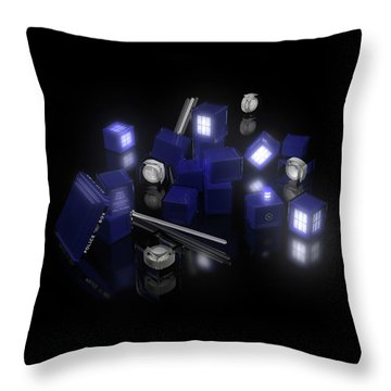Building Blocks Of Space Time Travel Throw Pillow