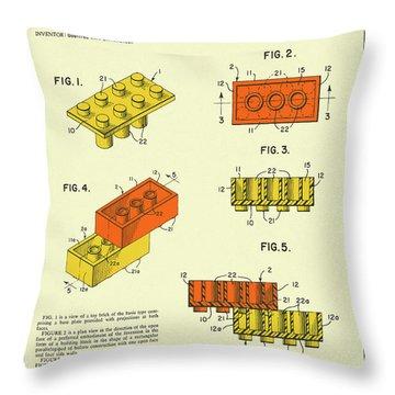 Building Bricks 1961 Throw Pillow