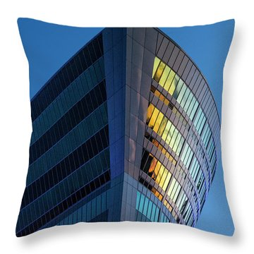 Building Floating In The Sky Throw Pillow