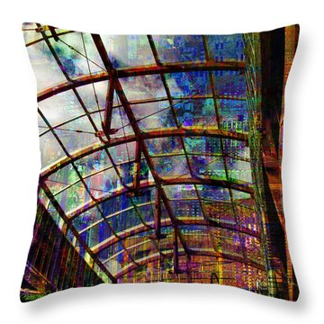 Building For The Future Throw Pillow