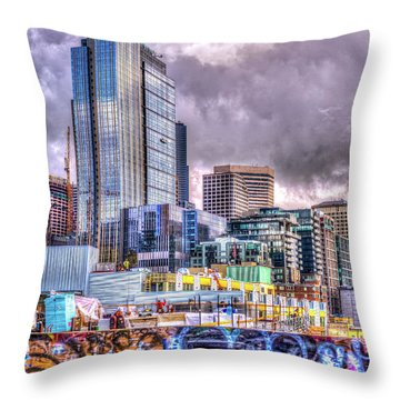 Building Seattle Throw Pillow by Spencer McDonald