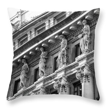 Building Throw Pillow by Silvia Bruno