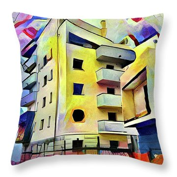 Building Site #1 Throw Pillow