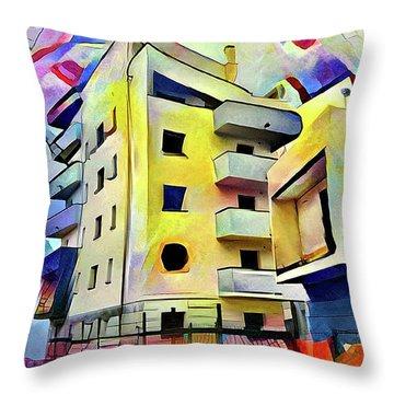 Building Site #1 Throw Pillow