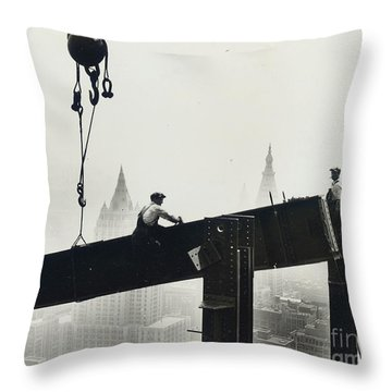Steel Cable Throw Pillows