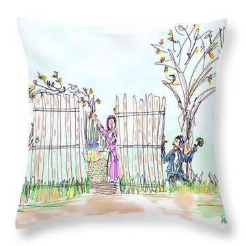 Building The Sukkot Throw Pillow