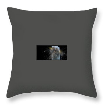 Throw Pillow featuring the digital art Building_explosion by Marcia Kelly
