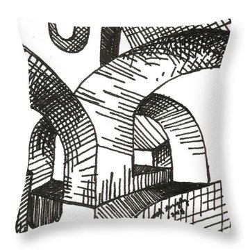 Buildings 1 2015 - Aceo Throw Pillow