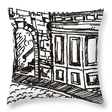 Buildings 2 2015 - Aceo Throw Pillow