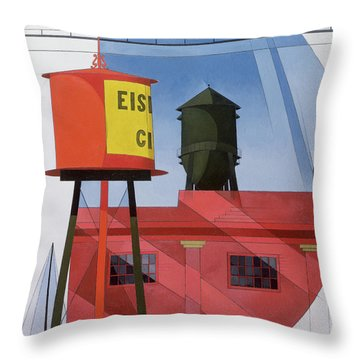 Buildings Abstraction Throw Pillow by Charles Demuth