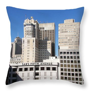 Throw Pillow featuring the photograph Buildings by Carol  Bradley