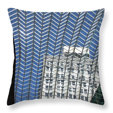 Throw Pillow featuring the photograph Buildings In Philadelphia by Emanuel Tanjala