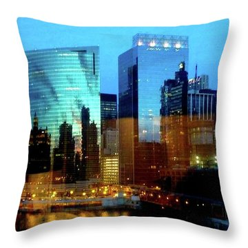 Reflections On The Canal Throw Pillow
