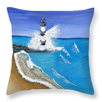 Built On Solid Rock Throw Pillow