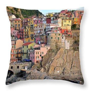 Throw Pillow featuring the photograph Built On The Slope by Frozen in Time Fine Art Photography