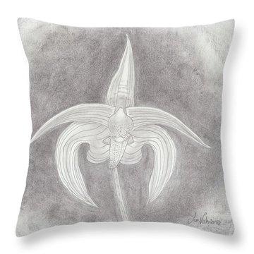 Bulbophyllum Polystictum Orchid Throw Pillow