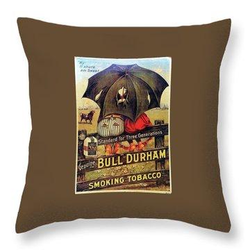 Bull Durham Smoking Tobacco Throw Pillow