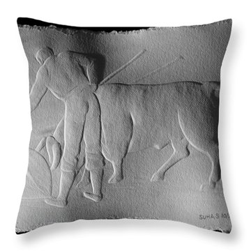 Bull Fighter Throw Pillow
