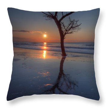 Bull Island Sunrise Throw Pillow
