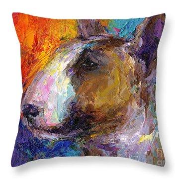 English Bull Dog Throw Pillows