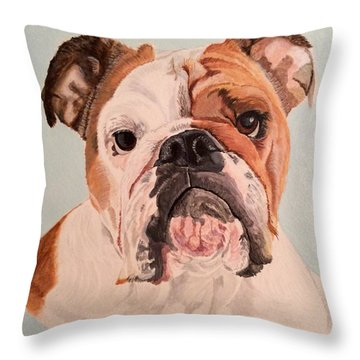 Bulldog Beauty Throw Pillow