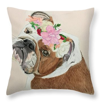 Bulldog Bridesmaid Throw Pillow