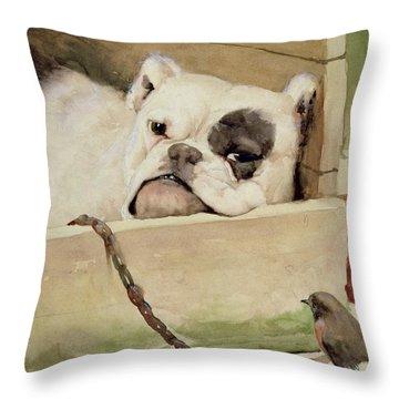 Bulldog Throw Pillow by Cecil Charles Windsor Aldin