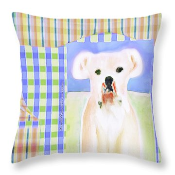 Bulldog Rana Art 40 Throw Pillow